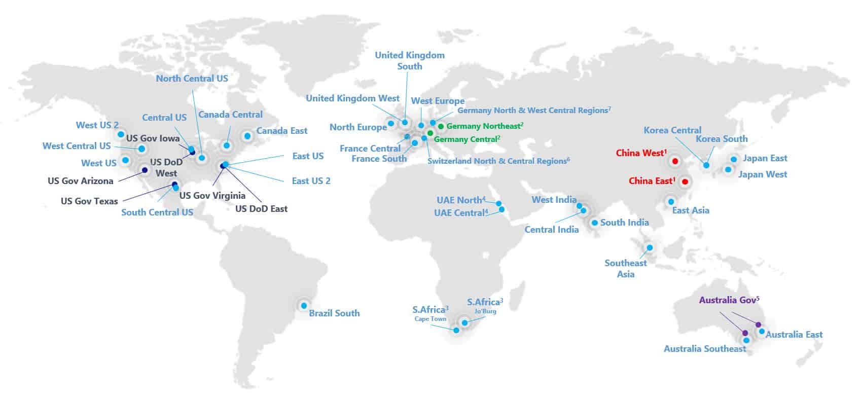 Azure Regions Datacenter Switzerland